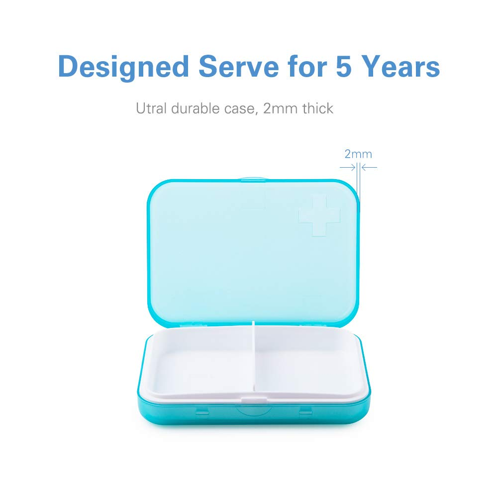 BUG HULL Pill Organizer (2 Times a Day), Extra Large Weekly AM/PM Pill Case, Pill Box 7 Days for Pills/Vitamin / Fish Oil/Supplements - Rainbow by BUG HULL (Image #3)