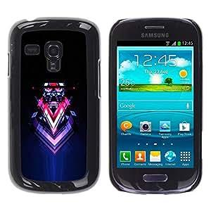 Be Good Phone Accessory // Dura Cáscara cubierta Protectora Caso Carcasa Funda de Protección para Samsung Galaxy S3 MINI NOT REGULAR! I8190 I8190N // Abstract Sci Fi Neon Art