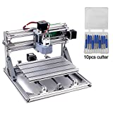DIY CNC Router Kits 2418 GRBL Control 3 Axis Plastic Acrylic PCB PVC Wood Carving Milling Engraving Machine, XYZ Working Area 240x180x45mm CNC Router Machine