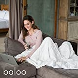 #10: Baloo Weighted Blanket for Adults · Summer Cotton · Sleep Better, Soothe Anxiety, Insomnia, PTSD & Autism with Pressure · Size of a Queen Mattress Top · 60x80in · (Pebble White, 15lbs)