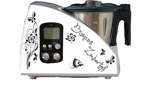 wodtke-werbetechnik Monsieur Cuisine - Pegatinas para robot de cocina, diseño floral: Amazon.es