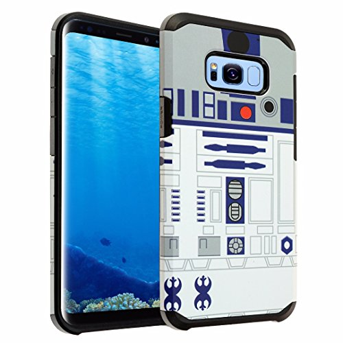 Galaxy S8 PLUS Case, DURARMOR Galaxy S8 Plus Star Wars R2D2 Astromech Droid Robot Dual Layer Hybrid ShockProof Ultra Slim Armor Protector Case Cover, Star wars R2D2