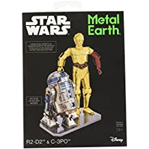 """Metal Earth MMG276 502667"""" Star Wars R2-D2 and C-3PO Construction Toy"""