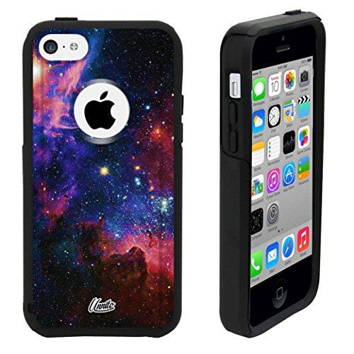 iPhone 5c Case Black Galaxy Nebula (Generic for Otterbox Commuter) | Unnito Hard and Soft case for iPhone 5C with Nebula Galaxy Design