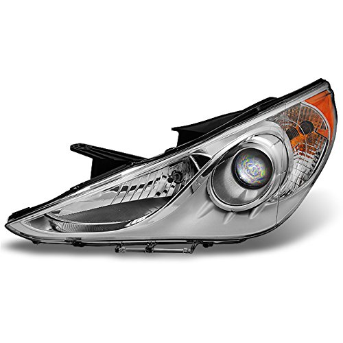 Front Left Headlamp - For Sonata 4Dr Sedan Clear Projector Front Headlight Head Lamp Front Lamp Driver Left Side Repalcement