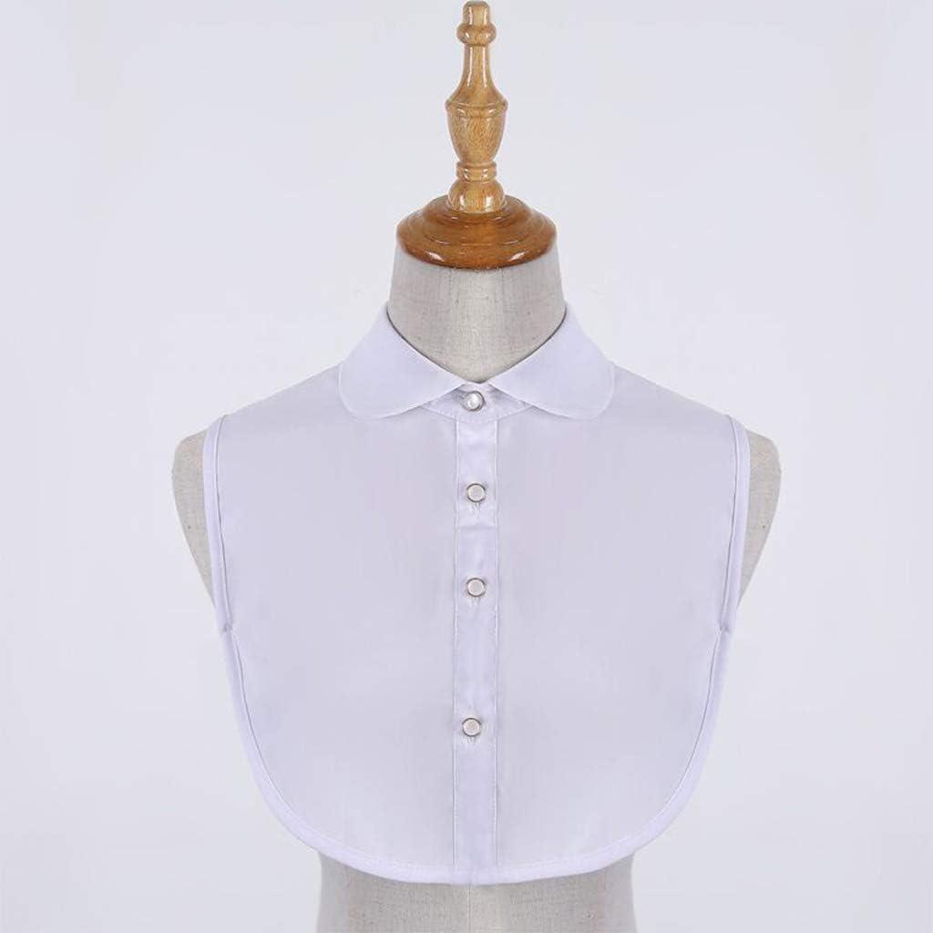 Women Collar 29 Styles Womens Detachable Fake False Collar Solid Color Retro Plaid Check Chiffon Half Shirt Blouse Adjust Clothes Accessories