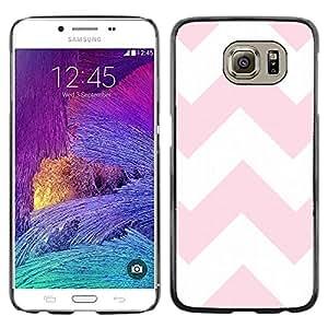 iKiki Tech / Estuche rígido - Pink White Pattern Lines - Samsung Galaxy S6 SM-G920
