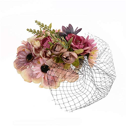 Elegant Cloth Flower Feather Hair Clip Hair Pin DIY Headdress Hair Ornaments For Bridal Wedding Jewelry 3 Colors 21