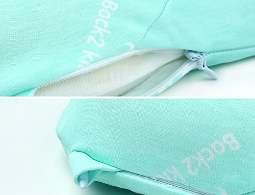 Toddler Pillow for Sleeping, Small Nap Pillow for Kids Travel Size 15'' x 10'' (Green) by Restcloud (Image #6)