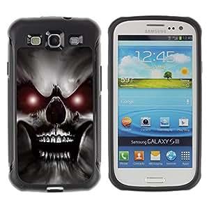 Suave TPU Caso Carcasa de Caucho Funda para Samsung Galaxy S3 I9300 / Skull Red Eyes Devil Evil Villain Monster / STRONG