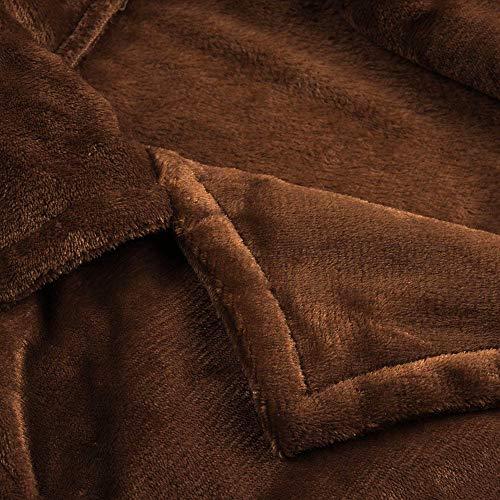 Mujeres Moda Parka Coat Cálido Invierno Marrón Vjgoal Chaqueta Casual Sólido Solapa Outwear Overcoat Color BwdBt
