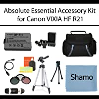 Absolute Essential Accessory Kit For Canon VIXIA HF R21 Full HD Camcorder Includes Extended Life Replacement BP-110 Battery + AC/Dc Travel Charger + Deluxe Case + Mini HDMI Cable + 50 Tripod w/Case + 3PC Filter Kit (UV-CPL-FLD) + USB SD Reader + Much More