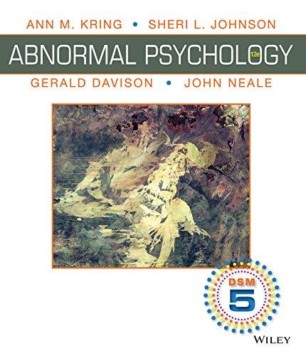 abnormal psychology gerald davison and john neale pdf