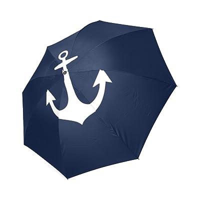 Kitchor Customized Anchor Foldable Umbrella Sun Rain Anti-UV