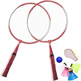 TINTON LIFE 1 Pair Badminton Racket for Children Indoor/Outdoor Sport Game(Pink)