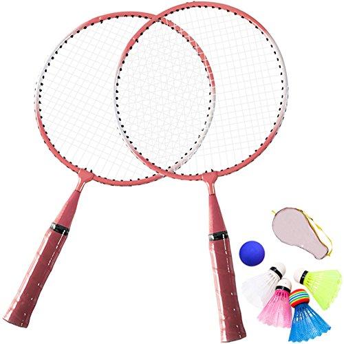 TINTON LIFE 1 Pair Badminton Racket for Children Indoor/Outdoor Sport Game(Pink)