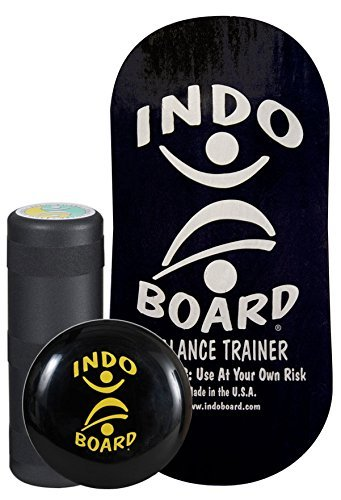INDO BOARD Rocker Balance Board Package Ages, Improve Balance, Comes with 33'' X 15'' Non-Slip Deck 6.5'' Roller and 14'' Cushion - Black and Silver by INDO BOARD (Image #8)