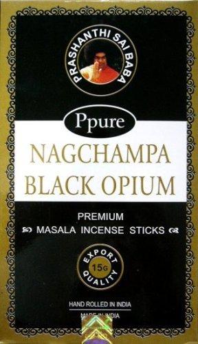 Ppure Nag ChampaプレミアムMasala Incense Sticks Black Opium B00UBI78SS