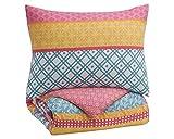 Signature Design by Ashley Meghana Twin Comforter Set, Pink/Orange