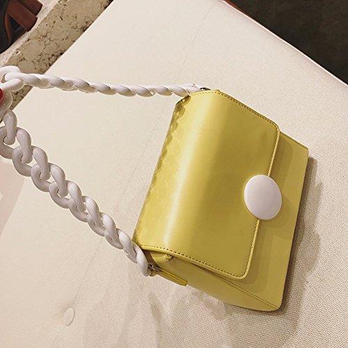 la Sac sen chaîne été Sac Bright Sac Sac Sac Croix yellow Oblique carré Petit est ZHANGJIA Petit 4wqcdSFF