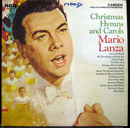 MARIO LANZA christmas hymns & carols LP Used_VeryGoodCAS 777 Vinyl 1963 Record