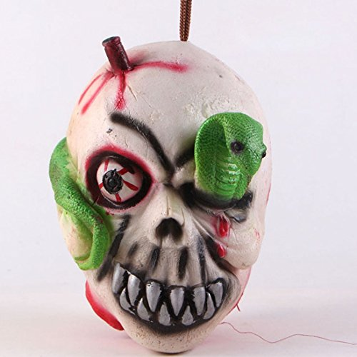 Halloween Bloody Decorations Severed Head Cut off Corpse Head Prop Hanging Zombie Party (Left Eye Halloween Costume Ideas)