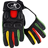 Timeship Racing Kody Noble Black/Rasta Slide Gloves - Medium