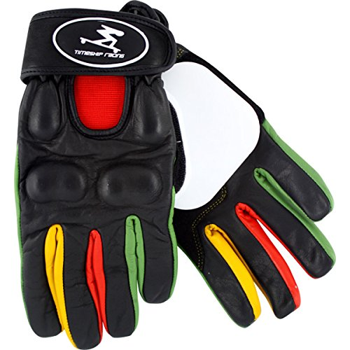 Timeship Racing Kody Noble Black/Rasta Slide Gloves - Medium by Timeship Racing