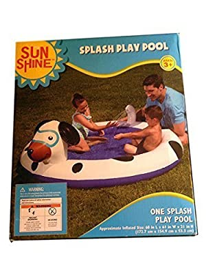 Splash Play Pool Inflatable Dog Water Sprays Out of Tail