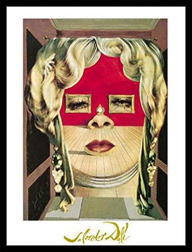 Divano Labbra Di Mae West.Salvador Dali Stampa D Arte E Cornice Mdf Nero Il Volto