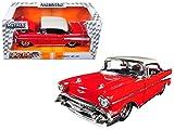 Jada 98944 1957 Chevrolet Bel Air Red Bigtime Muscle 1/24 Diecast Model Car