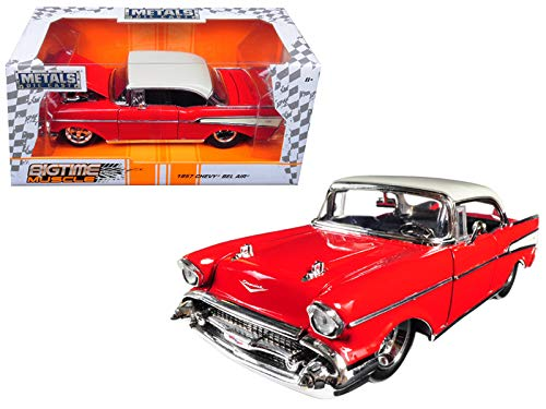 Jada 98944 1957 Chevrolet Bel Air Red Bigtime Muscle 1/24 Diecast Model Car