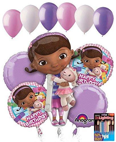 11 pc Doc Mcstuffins Happy Birthday Balloon Bouquet Party Disney Doctor Girl Vet ()