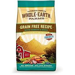 Whole Earth Farms Grain Free Recipe Dry Dog Food, Turkey & Duck, 25-Pound
