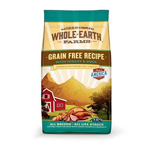Whole Earth Farms Grain Free Recipe Dry Dog Food, Turkey & Duck, 4-Pound