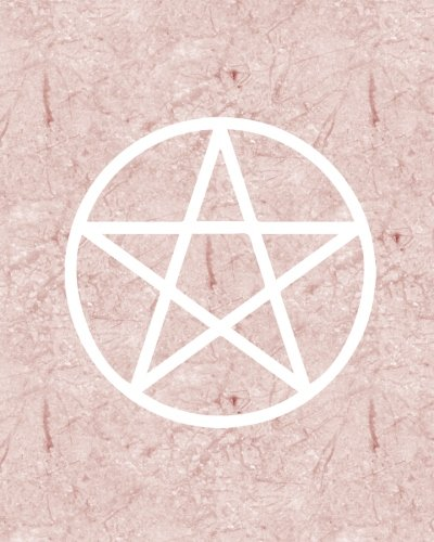 Download Rose Marble Witch Bullet Journal: Pink Pentagram Wicca Design, 160 Dot Grid Pages, 8 x 10 Blank Bullet Journal Notebook with 1/4 inch Dotted Paper, Perfect Bound Softcover pdf