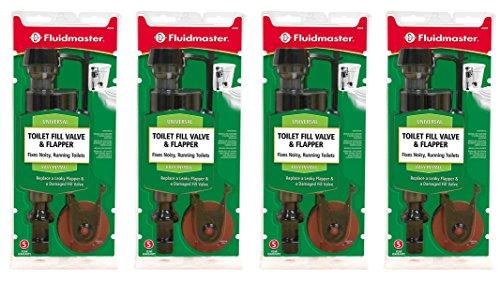 Fluidmaster 400CRP14 Toilet Fill Valve and Flapper Repair Kit (4 Pack) by Fluidmaster