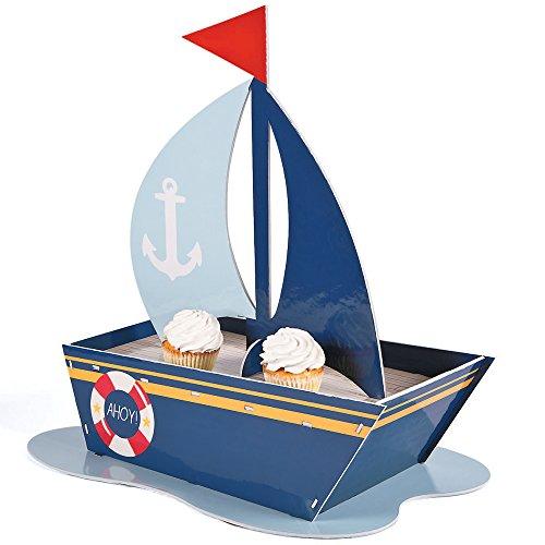 (Fun Express - Nautical Sailboat Cupcake Holder - Pack of)