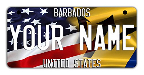 (BRGiftShop Personalize Your Own Mixed USA and Barbados Flag Motorcycle Golf Cart 4