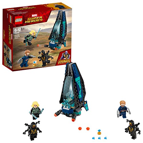 LEGO 76101 Marvel Avengers Infinity War Outrider Dropship Attack Playset (The Avengers Captain America And Black Widow)