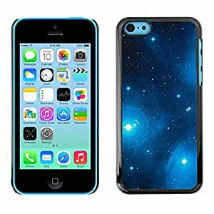 Shell-Star ( Blue Stars ) Fundas Cover Cubre Hard Case Cover para Apple iPhone 5C