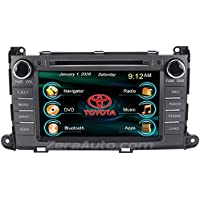 Zera® 2011-2014 Toyota Sienna In-Dash Navigation Stereo DVD CD GPS Radio 8 Inch Touchscreen Bluetooth Hands Free A2DP Audio Streaming AV Receiver USB SD iPod iPhone Ready Multimedia Deck Head Unit