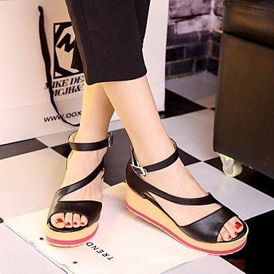 SHOES-XJIH&Donna Sandali Club tessuto scarpe abiti estivi tacco di cristallo Chunky Heel Azzurro 4A-4 3/4in,luce blu,US6 / EU36 / UK4 / CN36
