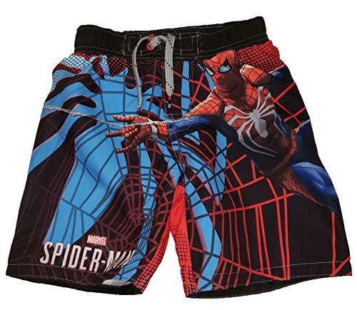 Marvel Comics Spider-Man Graphic Swim Trunk Shorts - Medium Black -