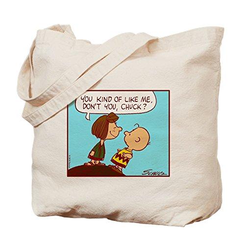 CafePress–Le Gusta Me.–gamuza de bolsa de lona bolsa, bolsa de la compra Medium caqui