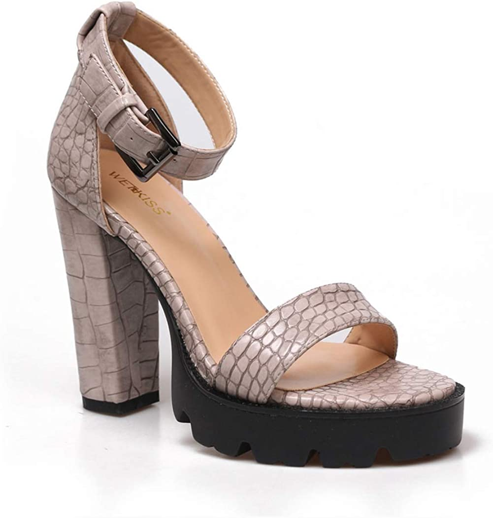 Women's Ankle Strap Platform Chunky