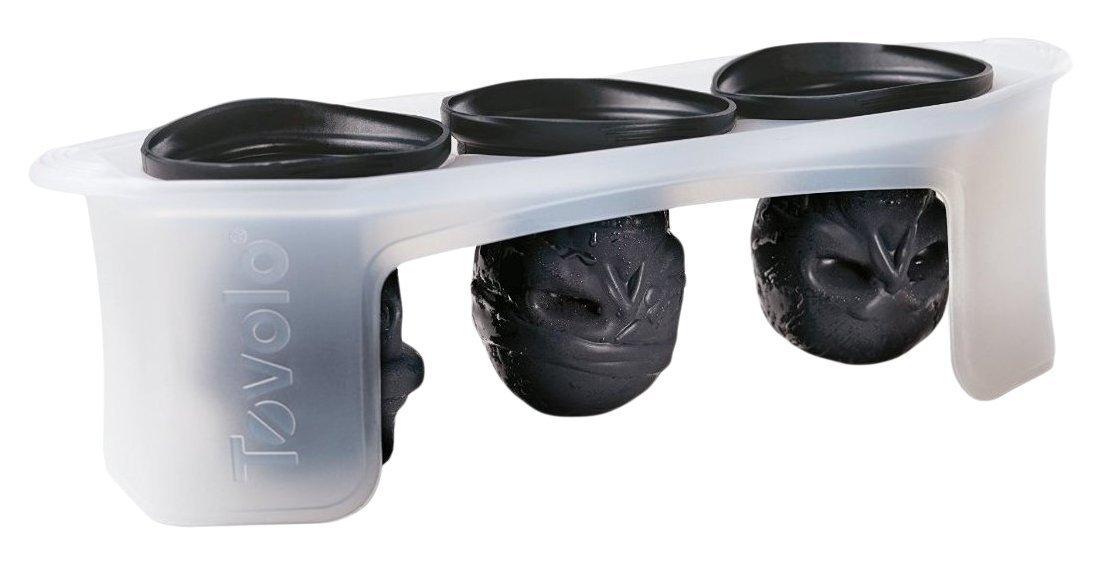 momugs 3d calavera flexible silicona Cubito de hielo molde bandeja, hace tres gigante de calaveras, redonda de cubo de hielo, color negro: Amazon.es: Hogar