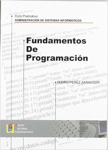 FUNDAMENTOS DE PROGRAMACION. CICLO FORMATIVO:ADMINISTRACION ...