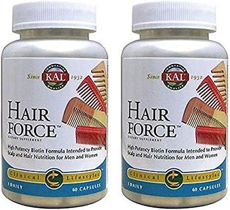 KAL - Hair Force multivitaminas pelo 60 veg caps - Pack 2 und.