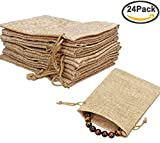 Welcome to Amariver's Store! Material: Linen Eye-catching Burlap Gift Bag: Stylish Linen gift bag will increase people's urge to see what is inside. Drawstring pulls and ties tight enough to secure small items